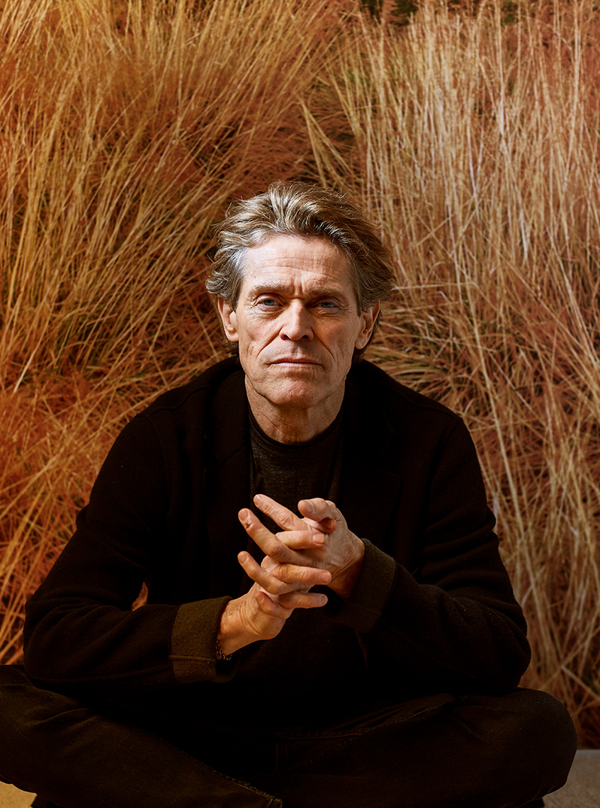 color portrait of Willem Dafoe