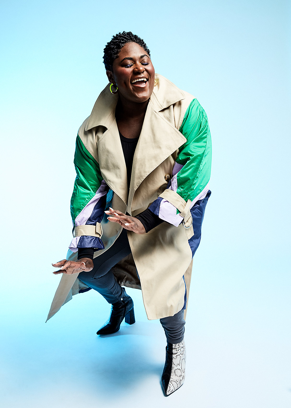 portrait of actress Danielle Brooks dancing