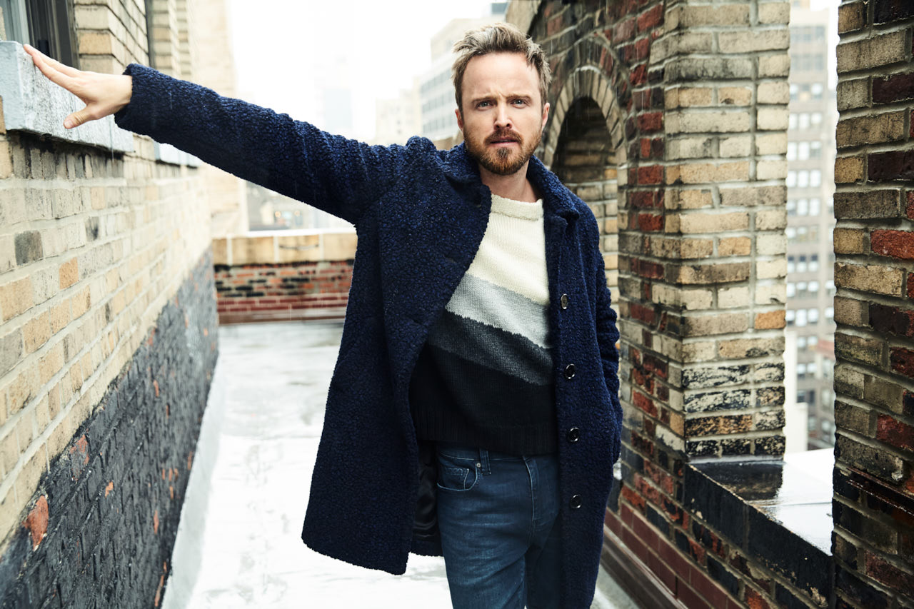 Aaron Paul rooftop portrait new york city