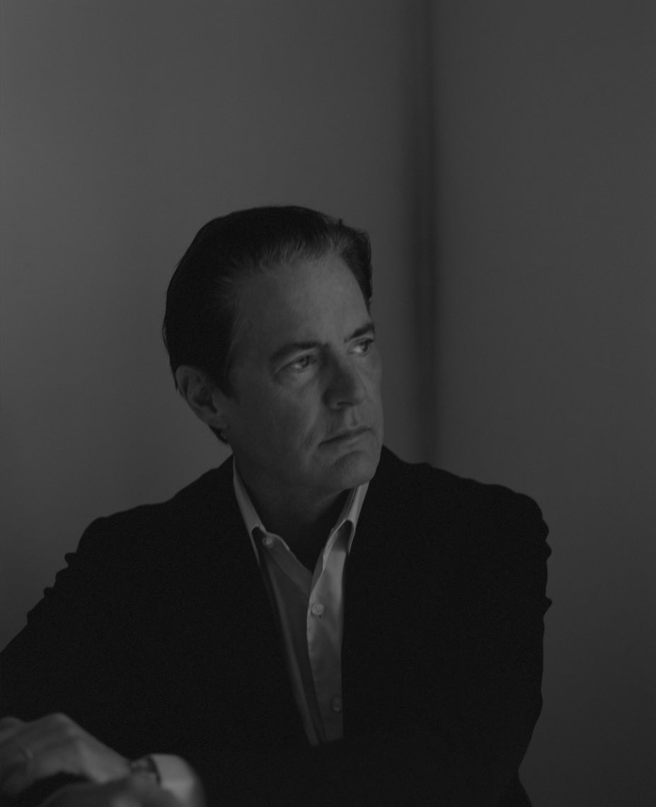 Kyle MacLachlan Film portrait black and white