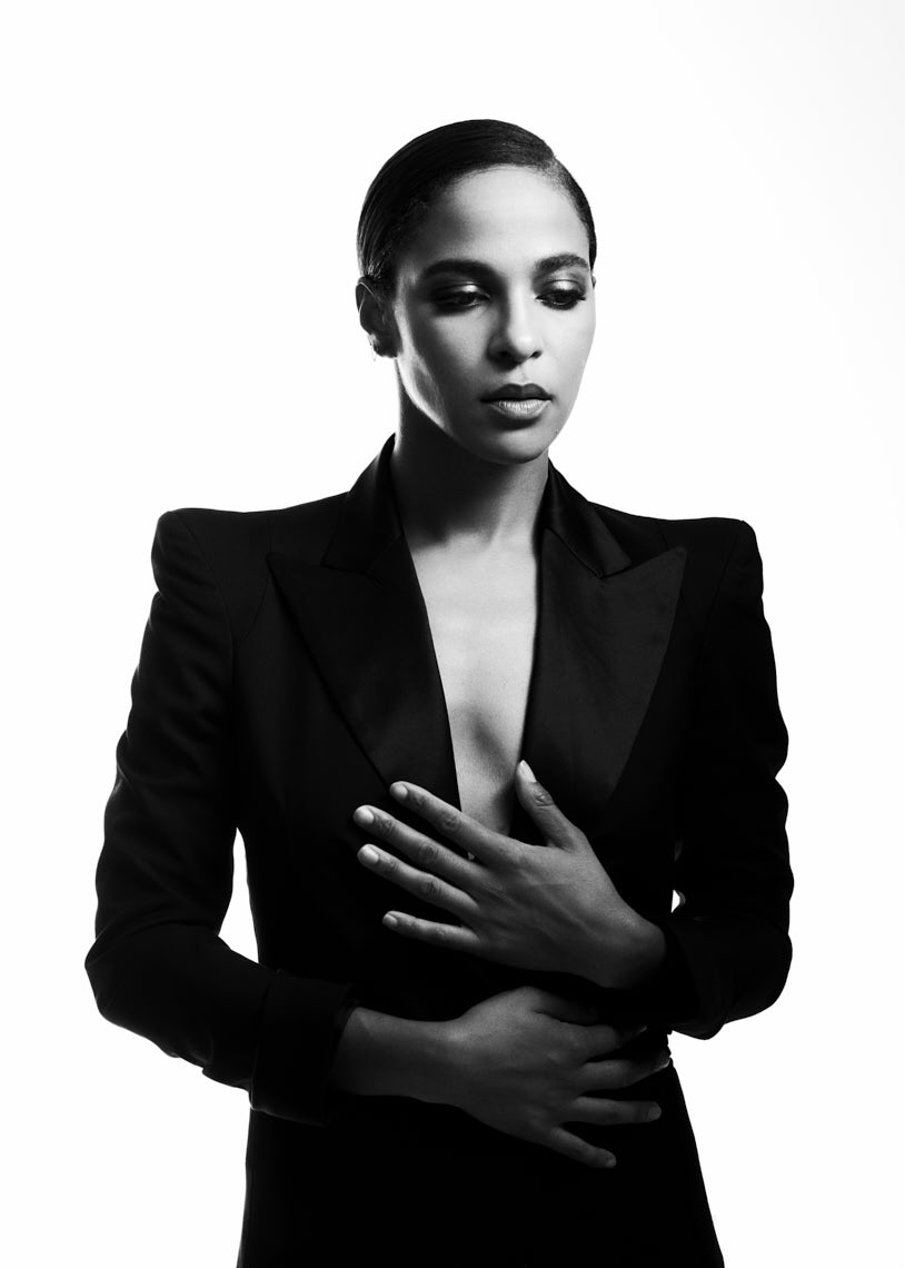 Megalyn Echikunwoke portrait black and white